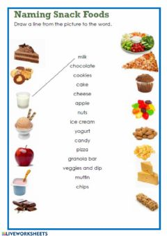 Interactive worksheet Snacks
