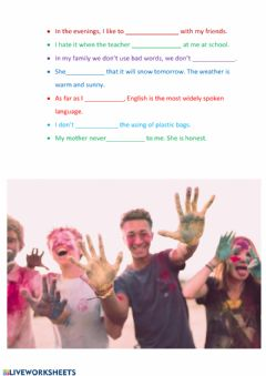 Interactive worksheet Imho
