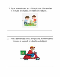 Interactive worksheet Constructing subject and predicate