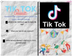 Interactive worksheet Tik tok quiz (play with students)