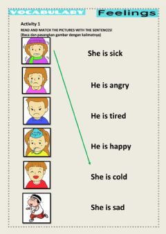Interactive worksheet Adjectives for feeling