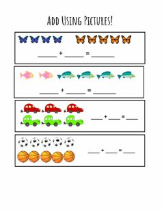 Interactive worksheet Adding With Pictures