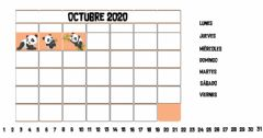 Interactive worksheet Calendario Octubre 2020