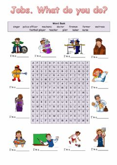 Ficha interactiva Jobs wordsearch