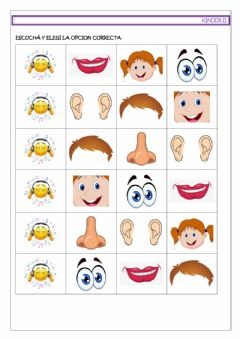 Interactive worksheet My face!