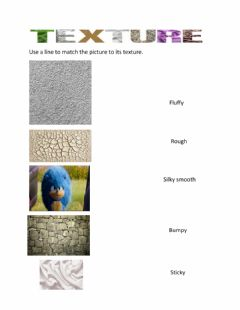 Interactive worksheet Texture