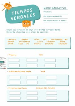 Interactive worksheet Verbos indicativo