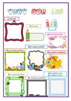 Interactive worksheet Presente toi