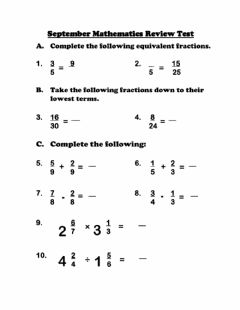 Interactive worksheet Review Test