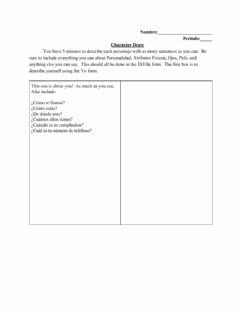 Interactive worksheet S1U2 Character Draw