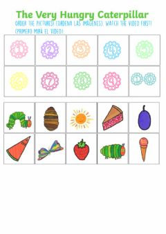 Ficha interactiva The very hungry caterpillar - Order the story