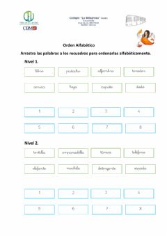 Interactive worksheet Orden alfabético.