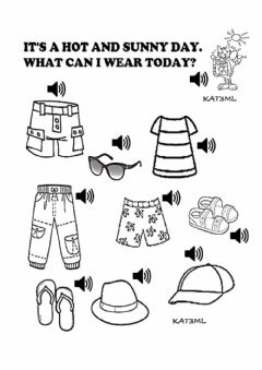 Interactive worksheet What can I wear today