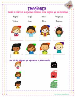 Interactive worksheet Conociendo emociones