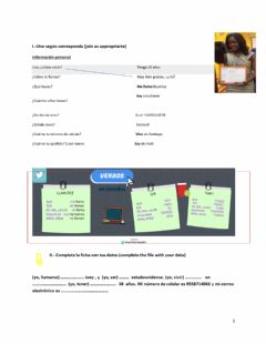 Interactive worksheet Ejercicio 1
