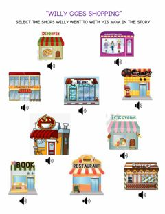 Interactive worksheet Story: Willy Goes Shopping