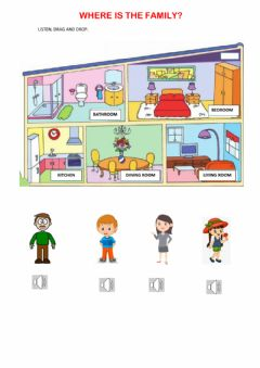 Interactive worksheet Where is the family?