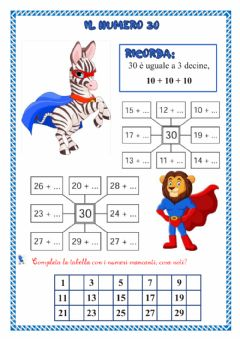 Interactive worksheet IL NUMERO 30