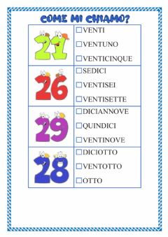 Interactive worksheet COME MI CHIAMO?