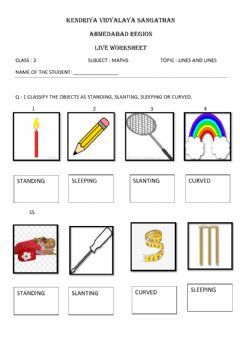 Interactive worksheet Lines and lines