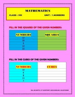 Interactive worksheet Squares and cubes
