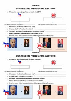 Interactive worksheet Potus