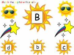 Interactive worksheet Matching letters
