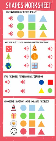 Ficha interactiva Shapes Worksheet -2