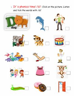 Interactive worksheet It-s phonics time -d-