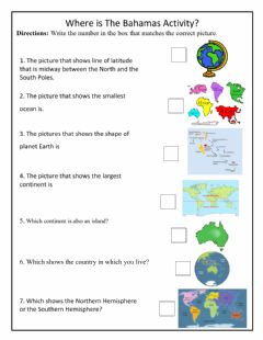 Interactive worksheet Where is The Bahamas Activity