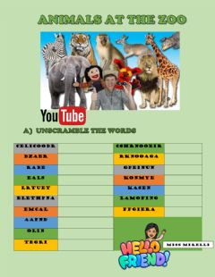 Interactive worksheet Zoo animals