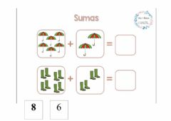 Interactive worksheet Sumas de otoño