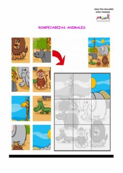 Interactive worksheet Animalitos