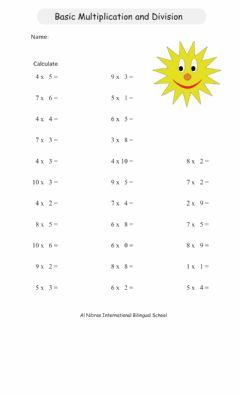 Interactive worksheet Multiplication & Division Facts Review