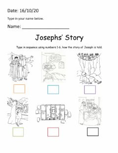 Interactive worksheet Joseph