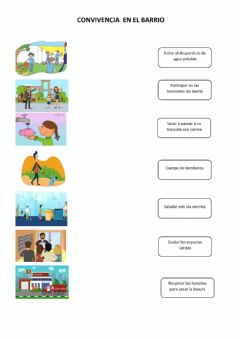 Interactive worksheet Convivencia en el barrio