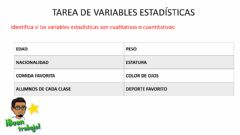 Interactive worksheet Tipos de variables