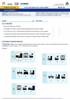 Interactive worksheet Week 28: Do it yourself A1