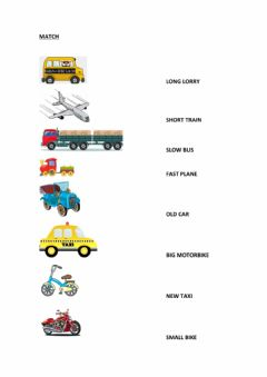 Interactive worksheet Means of transports