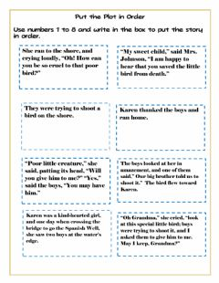 Interactive worksheet Story Element Plot
