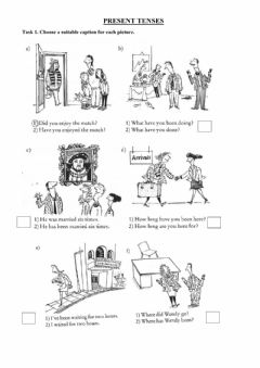 Interactive worksheet Present Perfect Simple and Continuous, Past Simple