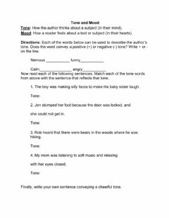 Interactive worksheet Tone and Mood Worksheet 3