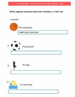 Interactive worksheet Negative sentences with Don-t - Do not