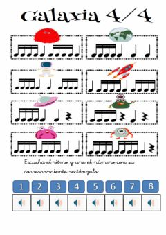 Interactive worksheet Dictado rítmico 3ep