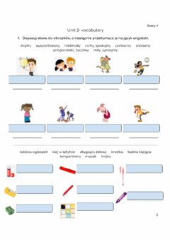 Ficha interactiva Adjectives and Stationery- Brainy 4