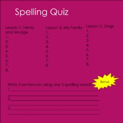 Interactive worksheet Spelling quiz