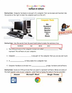 Interactive worksheet Computer Hardware & Software