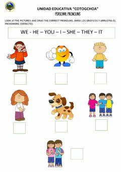 Interactive worksheet Peronal pronouns