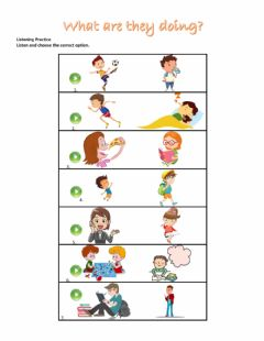 Interactive worksheet What are they doing