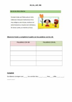 Interactive worksheet Br y bl